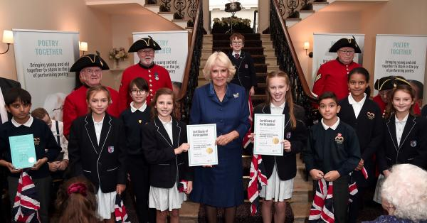 The Duchess of Cornwall carries out literacy engagements in London